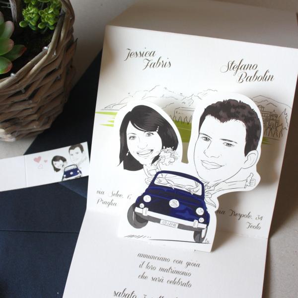 Partecipazioni Matrimonio Caricature.Inviti Nuziali Home